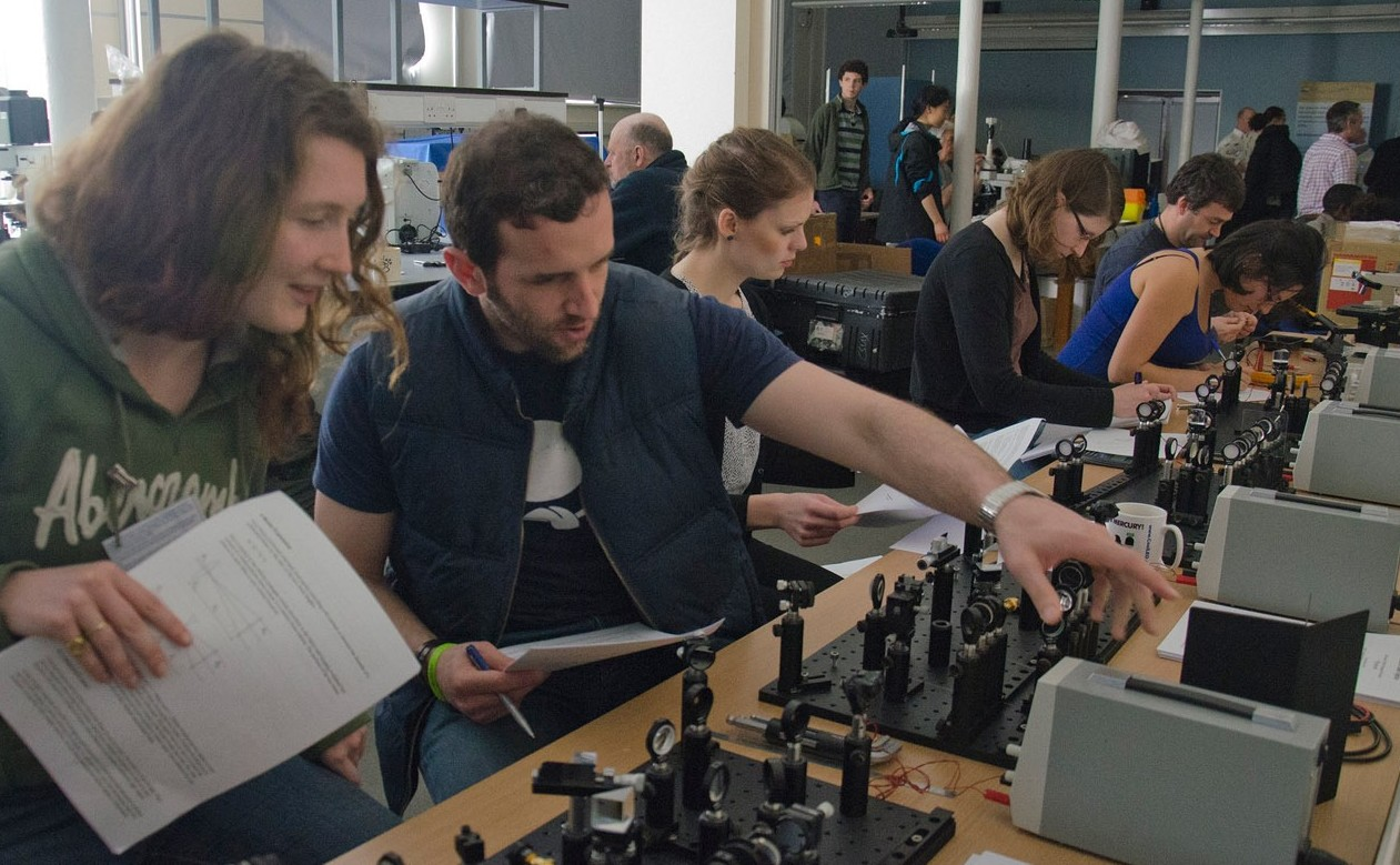 Attendees at the annual course in advanced optical microscopy at the Plymouth Laboratory of the Marine Biological Association - a course supported by The Company of Biologists